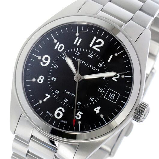ハミルトン HAMILTON カーキ フィールド Khaki Field クオーツ メンズ 腕時計 H68551933 ブラック ブラック