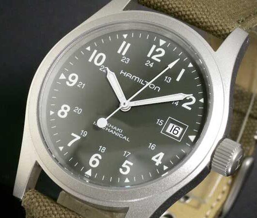 ハミルトン HAMILTON カーキ KHAKI フィールドメカ 腕時計 H69419363 ダークグリーン ダークグリーン