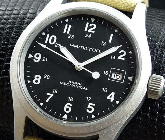 ハミルトン HAMILTON カーキフィールドメカ 腕時計 H69419933 ブラック
