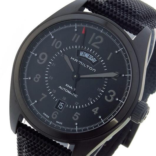 ハミルトン HAMILTON カーキ フィールド KHAKI 自動巻き メンズ 腕時計 H70695735 ブラック ブラック