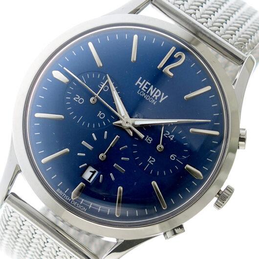 ヘンリーロンドン HENRY LONDON クオーツ メンズ 腕時計 HL41-CM-0037 ネイビー ネイビー