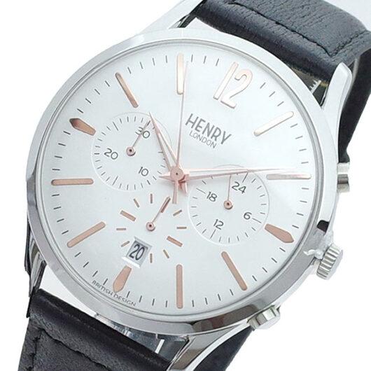 ヘンリーロンドン HENRY LONDON 腕時計 メンズ HL41-CS-0011 クォーツ ホワイト ブラック