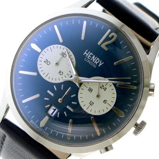 ヘンリーロンドン HENRY LONDON クオーツ メンズ 腕時計 HL41-CS-0039 ネイビー ネイビー