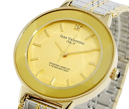 アイザック バレンチノ IZAX VALENTINO クオーツ メンズ 腕時計 IVG-200-1 ゴールド