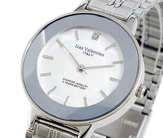 アイザック バレンチノ IZAX VALENTINO クオーツ メンズ 腕時計 IVG-200-2 ホワイト