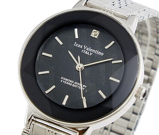 アイザック バレンチノ IZAX VALENTINO クオーツ メンズ 腕時計 IVG-200-3 ブラック