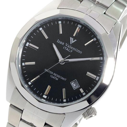 アイザック バレンチノ クオーツ メンズ 腕時計 IVG-560-1 ブラック ブラック