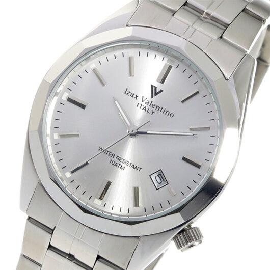 アイザック バレンチノ クオーツ メンズ 腕時計 IVG-560-2 シルバー シルバー