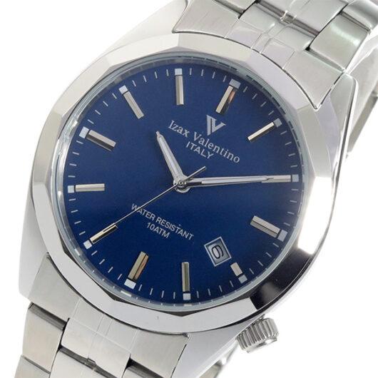 アイザック バレンチノ クオーツ メンズ 腕時計 IVG-560-3 ネイビー ネイビー