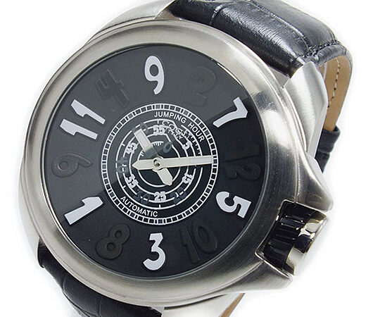 コグ COGU ジャンピングアワー 自動巻き 腕時計 JHR-BK ブラック