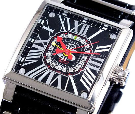キースバリー KEITH VALLER ルーレット付き 腕時計 K1612-BBK ブラック