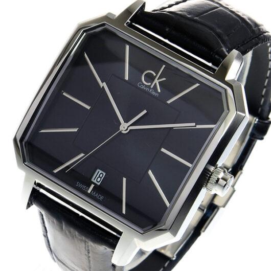 カルバン クライン CALVIN KLEIN クオーツ メンズ 腕時計 K1U21107 ブラック ブラック