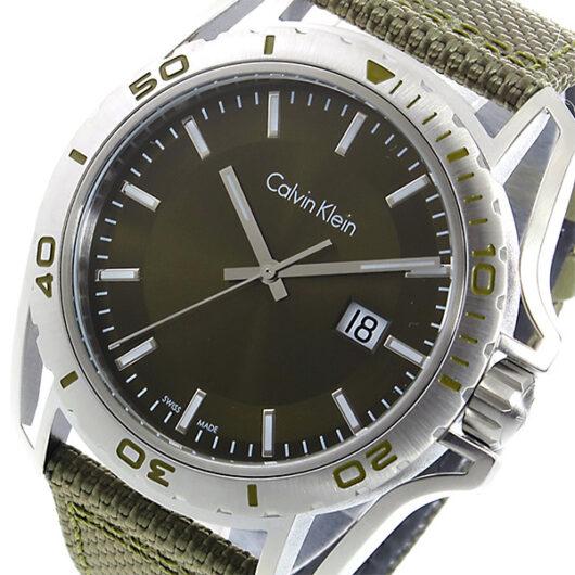 カルバン クライン CALVIN KLEIN クオーツ メンズ 腕時計 K5Y31XWL グリーン グリーン
