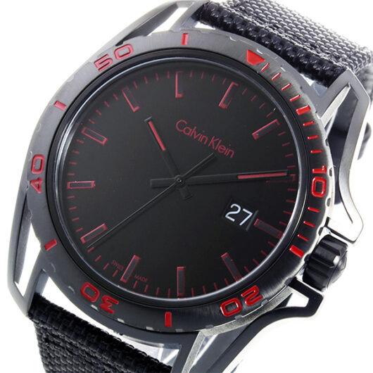 カルバン クライン CALVIN KLEIN クオーツ メンズ 腕時計 K5Y31ZB1 ブラック/レッド ブラック
