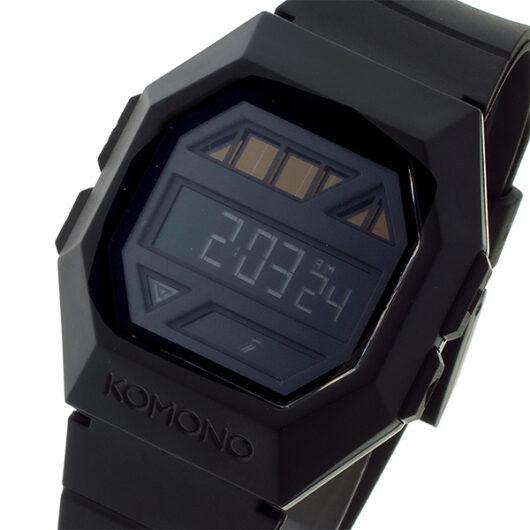 コモノ KOMONO Power Grid Pitch Black ソーラー デジタル メンズ 腕時計 KOM-W2050 ブラック ブラック