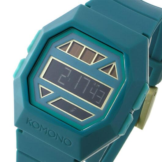 コモノ KOMONO Power Grid After Eight Green ソーラー デジタル 腕時計 KOM-W2054 エメラルドグリーン グリーン