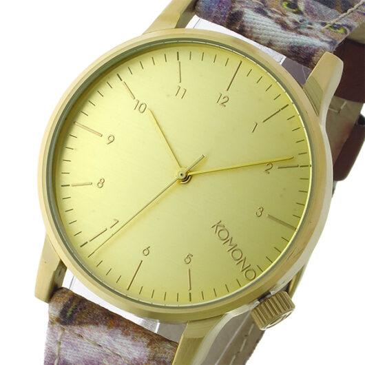 コモノ KOMONO Winston Print-Owls クオーツ メンズ 腕時計 KOM-W2150 ゴールド ゴールド