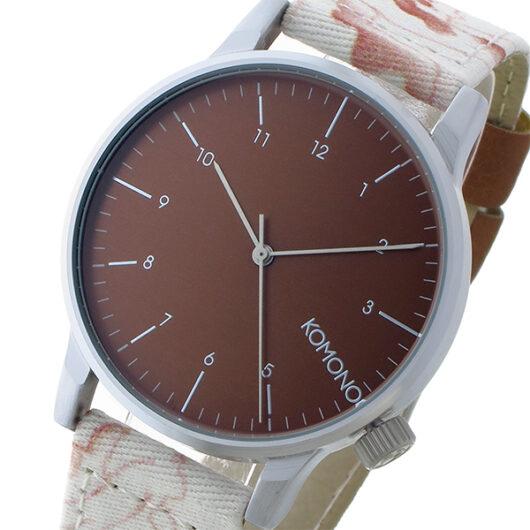 コモノ KOMONO Winston Print-Topography クオーツ メンズ 腕時計 KOM-W2151 カッパー カッパー