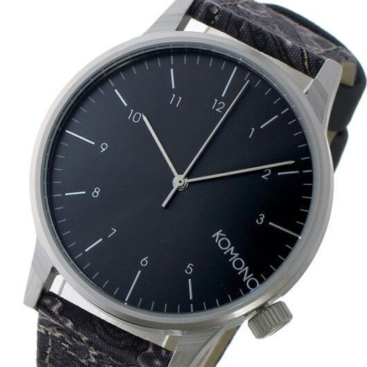 コモノ KOMONO Winston Print-Black Paisley クオーツ メンズ 腕時計 KOM-W2153 ガンメタ ガンメタ