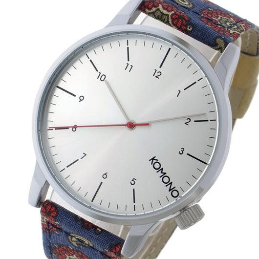 コモノ KOMONO Winston Print-Paisley Foulard クオーツ メンズ 腕時計 KOM-W2154 シルバー シルバー
