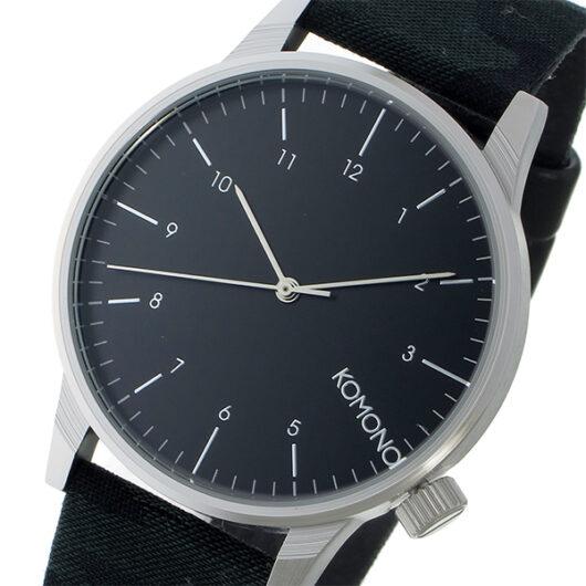 コモノ KOMONO Winston Print-Camo Green クオーツ メンズ 腕時計 KOM-W2169 ブラック ブラック