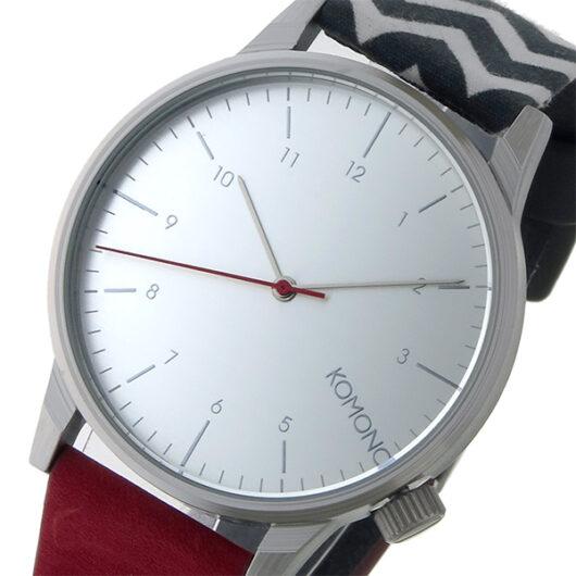 コモノ KOMONO Winston Galore-Zigzag Suede クオーツ メンズ 腕時計 KOM-W2204 シルバー シルバー