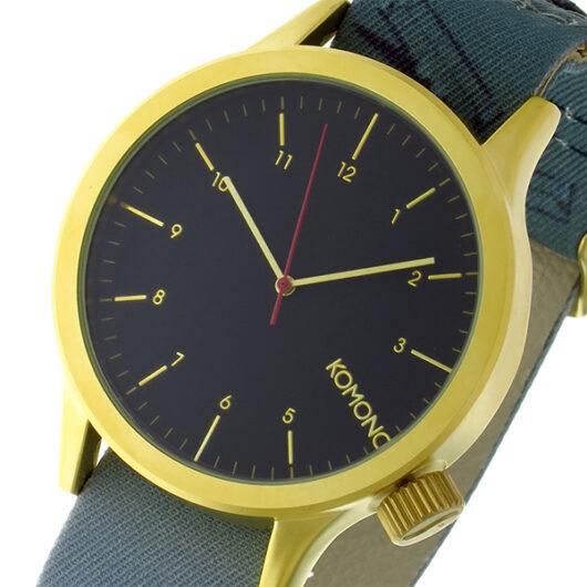 コモノ KOMONO Magnus-Magritte-Black Flag クオーツ メンズ 腕時計 KOM-W2886 ブラック ブラック