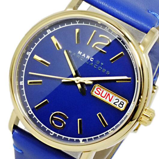 マークバイ マークジェイコブス ファーガス クオーツ メンズ 腕時計 MBM8650 ネイビー