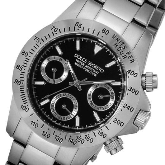 ドルチェ セグレート DOLCE SEGRETO クオーツ メンズ 腕時計 MCG100BK ブラック ブラック