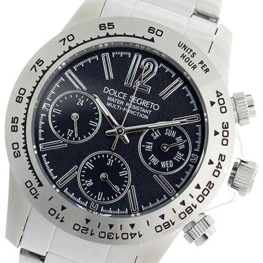 ドルチェセグレート DOLCE SEGRETO クオーツ 腕時計 MCG100BKS ブラック/シルバー ブラック