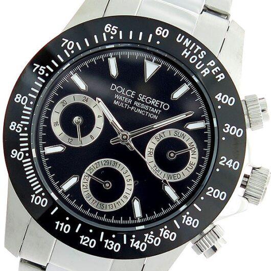 ドルチェセグレート DOLCE SEGRETO クオーツ 腕時計 MCG100NBK ブラック/シルバー ブラック