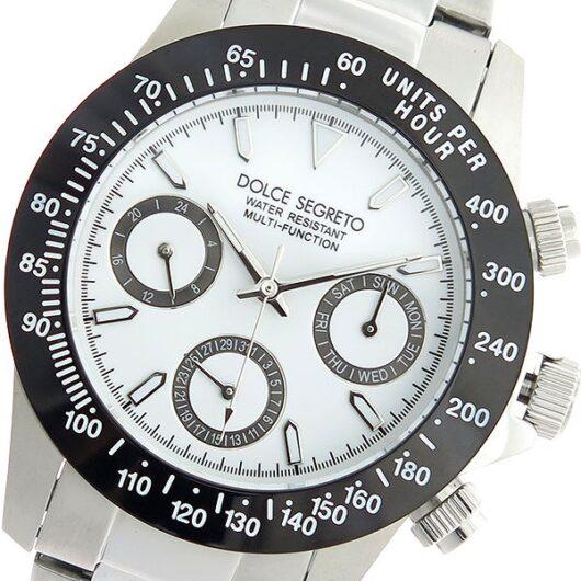 ドルチェセグレート DOLCE SEGRETO クオーツ 腕時計 MCG100NWH ホワイト/シルバー ホワイト