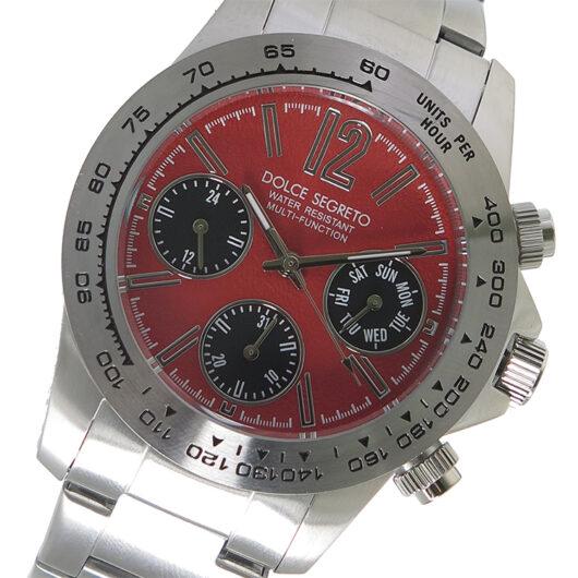 ドルチェセグレート DOLCE SEGRETO クロノ クオーツ メンズ 腕時計 MCG100RES オレンジ オレンジ