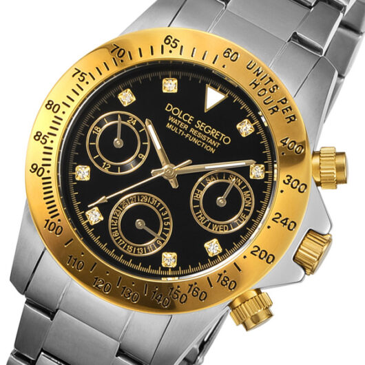 ドルチェ セグレート DOLCE SEGRETO クオーツ メンズ 腕時計 MCG200BK-8 ブラック ブラック