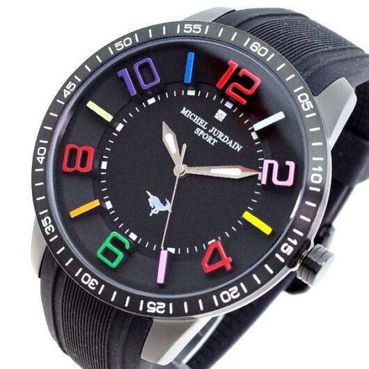 ミッシェルジョルダン MICHEL JURDAIN 腕時計 メンズ MJ-7700-BK-BK-BK MICHEL JURDAIN SPORT クォーツ ブラック