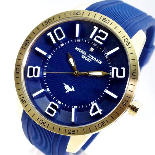 ミッシェルジョルダン MICHEL JURDAIN 腕時計 メンズ MJ-7700-GD-NV-NV MICHEL JURDAIN SPORT クォーツ ネイビー