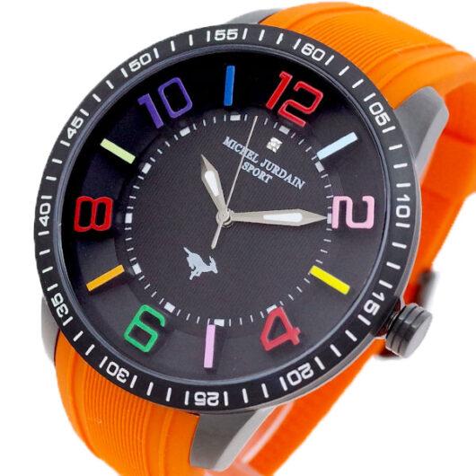 ミッシェルジョルダン MICHEL JURDAIN 腕時計 メンズ MJ-7700-BK-BK-OR MICHEL JURDAIN SPORT クォーツ ブラック オレンジ