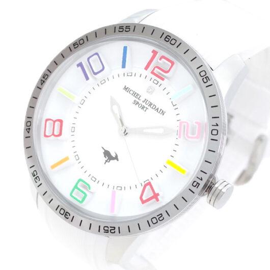 ミッシェルジョルダン MICHEL JURDAIN 腕時計 メンズ MJ-7700-SS-WH-WH MICHEL JURDAIN SPORT クォーツ ホワイト