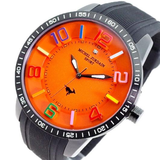 ミッシェルジョルダン MICHEL JURDAIN 腕時計 メンズ MJ-7700-BK-OR-BK MICHEL JURDAIN SPORT クォーツ オレンジ ブラック