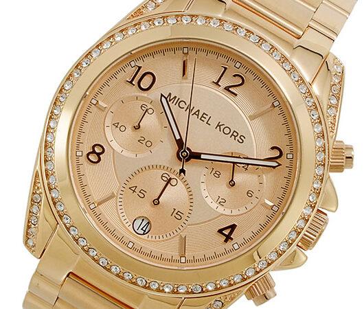 マイケルコース MICHAEL KORS クオーツ クロノグラフ 腕時計 MK5263 ベージュ
