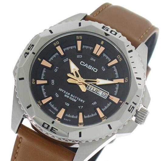 【希少逆輸入モデル】 カシオ CASIO クオーツ メンズ 腕時計 MTD-1085L-1A ブラック/ライトブラウン ブラック
