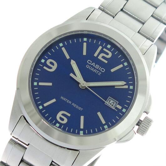 【希少逆輸入モデル】 カシオ CASIO クオーツ メンズ 腕時計 MTP-1215A-2A ブルー/シルバー ブルー