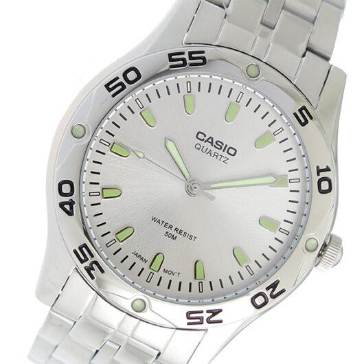 【希少逆輸入モデル】 カシオ CASIO クオーツ メンズ 腕時計 MTP-1243D-7AVDF シルバー シルバー