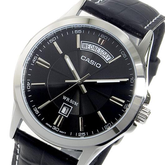 【希少逆輸入モデル】 カシオ CASIO クオーツ メンズ 腕時計 MTP-1381L-1AVDF ブラック ブラック