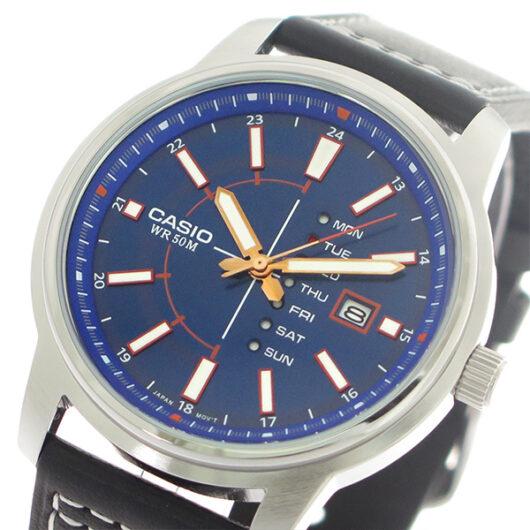 【希少逆輸入モデル】 カシオ CASIO クオーツ メンズ 腕時計 MTP-E128L-2A1 ブルー/ブラック ブルー