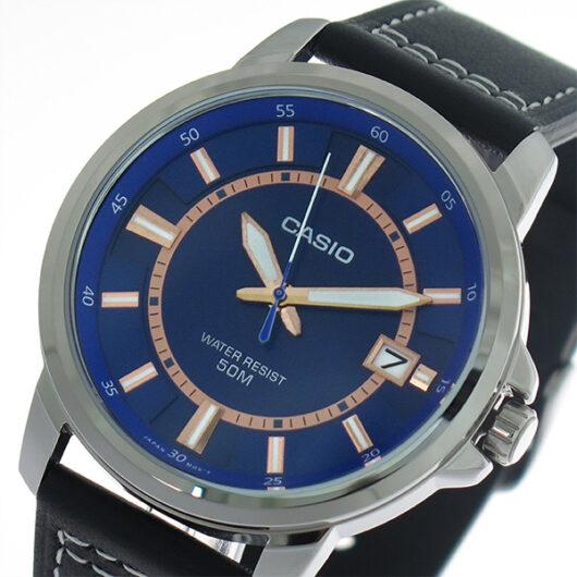 【希少逆輸入モデル】 カシオ CASIO クオーツ メンズ 腕時計 MTP-E130L-2A1 ブルー/ブラック ブルー