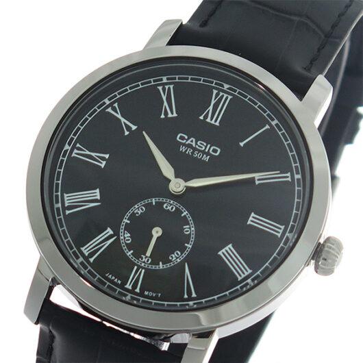 【希少逆輸入モデル】 カシオ CASIO クオーツ メンズ 腕時計 MTP-E150L-1B ブラック/ブラック ブラック
