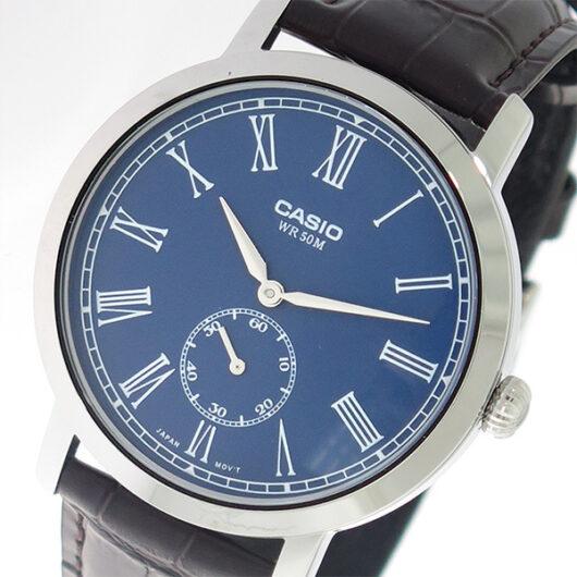 【希少逆輸入モデル】 カシオ CASIO クオーツ メンズ 腕時計 MTP-E150L-2B ブルー/ダークブラウン ブルー