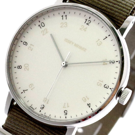 イッセイミヤケ ISSEY MIYAKE 腕時計 メンズ NYAJ003 F エフ クォーツ ホワイト カーキ カーキ