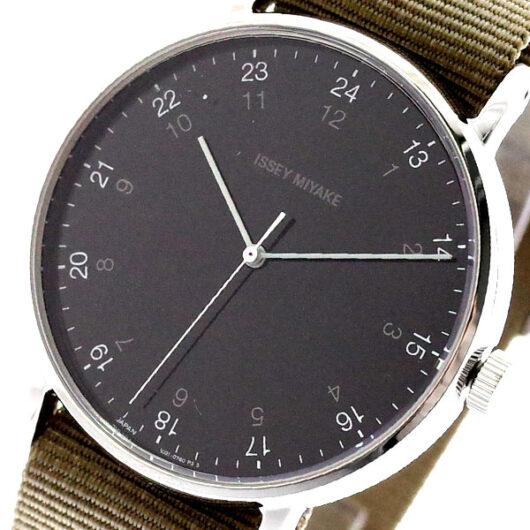 イッセイミヤケ ISSEY MIYAKE 腕時計 メンズ NYAJ004 F エフ クォーツ ブラック カーキ カーキ
